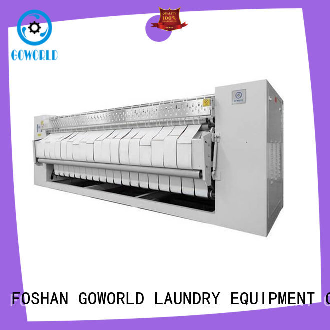 GOWORLD heat proof flat work ironer machine easy use for hospital