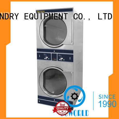 GOWORLD Energy Saving stackable washer and dryer sets LPG gas heating for hotel