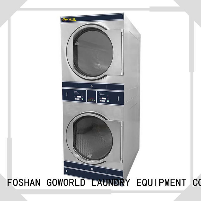 GOWORLD Manual stacking washer dryer supplier for school