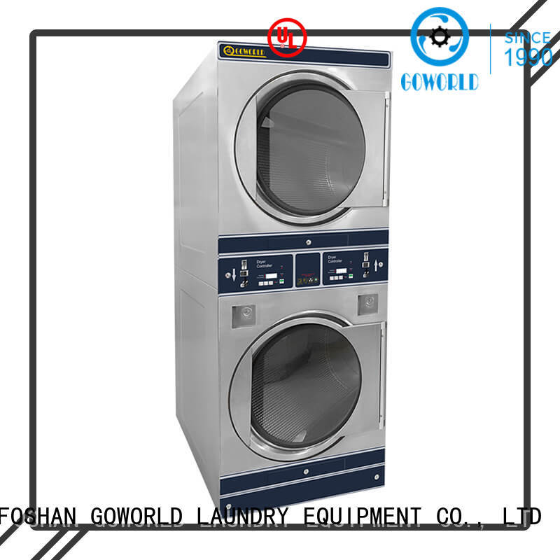 GOWORLD double self washing machine electric heating for hotel