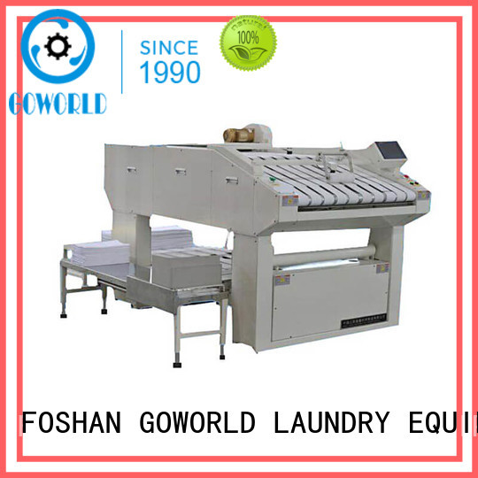 GOWORLD intelligent automatic towel folder intelligent control system for laundry factory