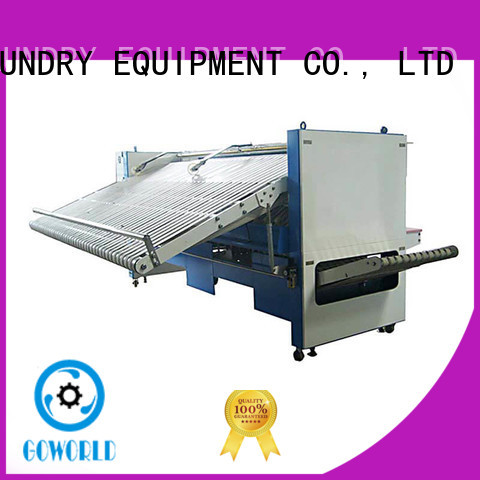 GOWORLD bath folding machine high speed for laundry factory