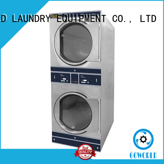 GOWORLD school stackable washer dryer combo natural gas heating for commercial laundromat