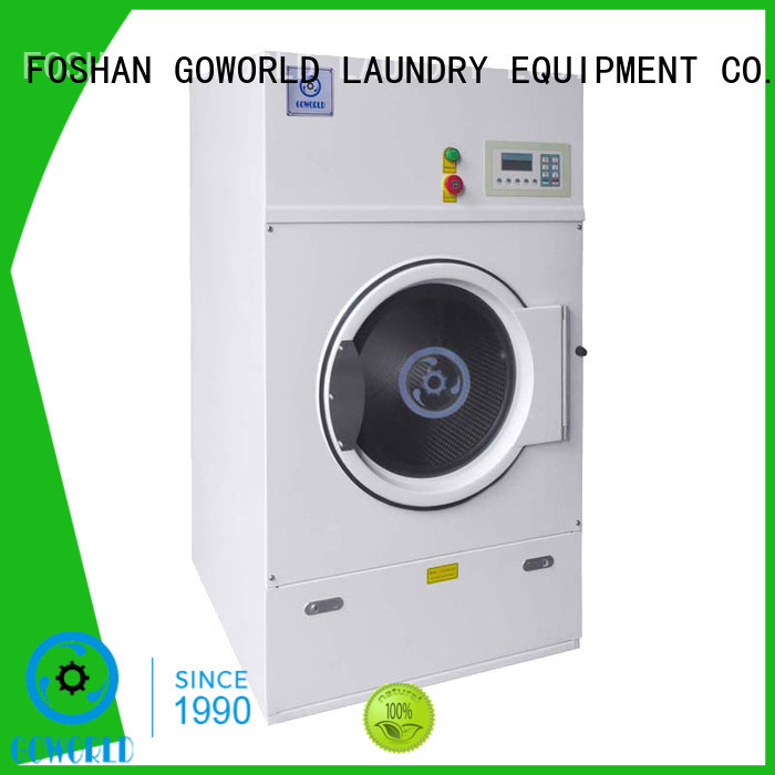 GOWORLD heating industrial tumble dryer simple installation for inns