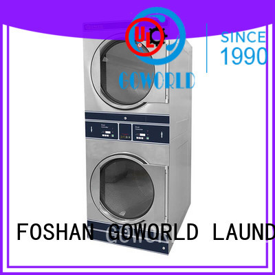 GOWORLD Manual stacked washer dryer combo school hotel