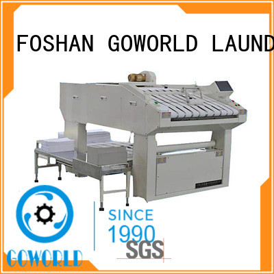 GOWORLD safe towel folding machine high speed for textile industries