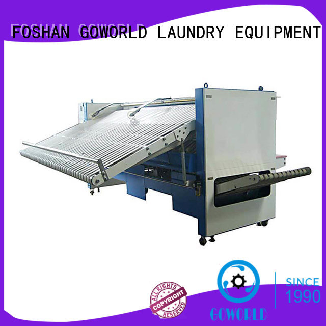 GOWORLD textile automatic towel folder intelligent control system for laundry factory