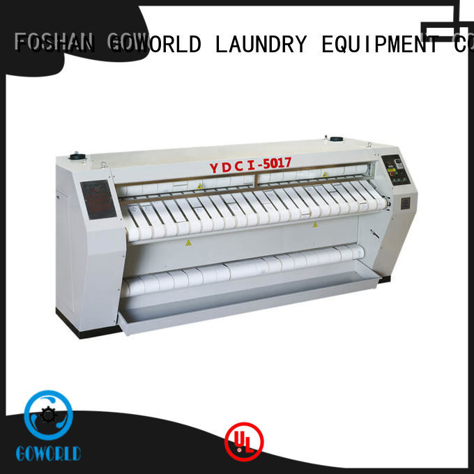 GOWORLD chest flat work ironer machine free installation for hotel