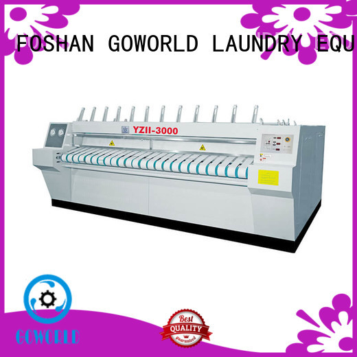 safe ironer free installation for laundry shop GOWORLD