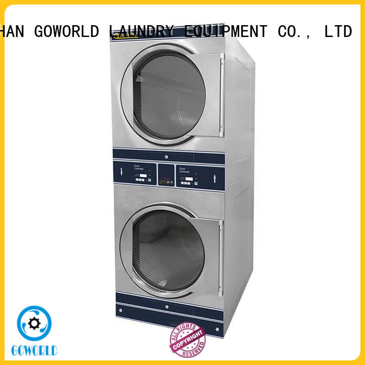 Easy Operated stacking washer dryer commercial natural gas heating for laundry shop