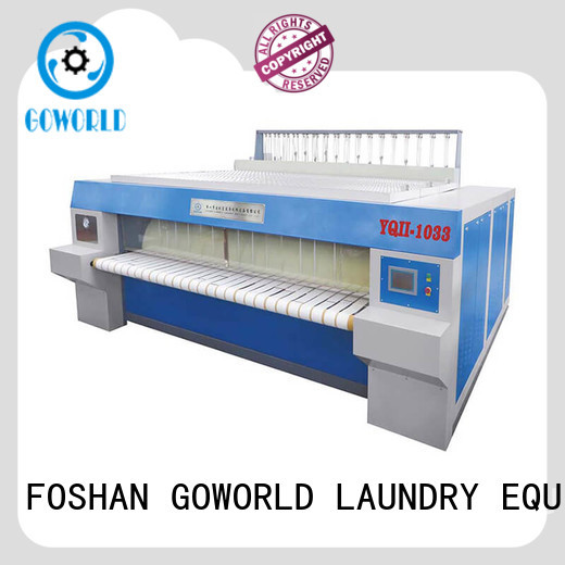 GOWORLD stainless steel roller ironing machine factory price for textile industries