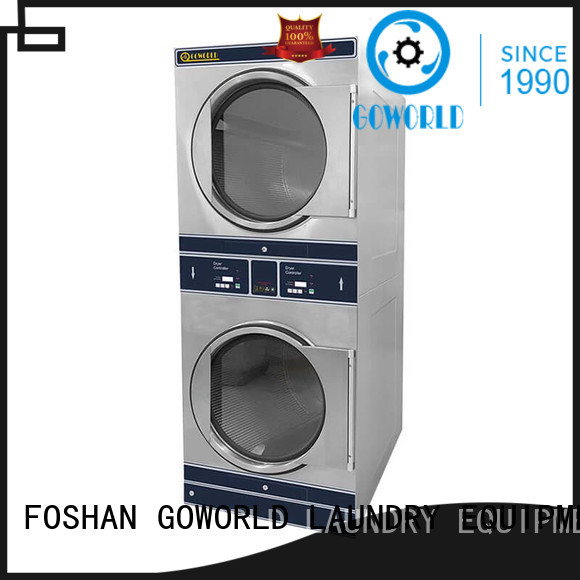 GOWORLD Low Noise stacking washer dryer electric heating for laundry shop