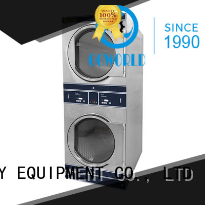 GOWORLD Low Noise stackable washer dryer combo natural gas heating for fire brigade