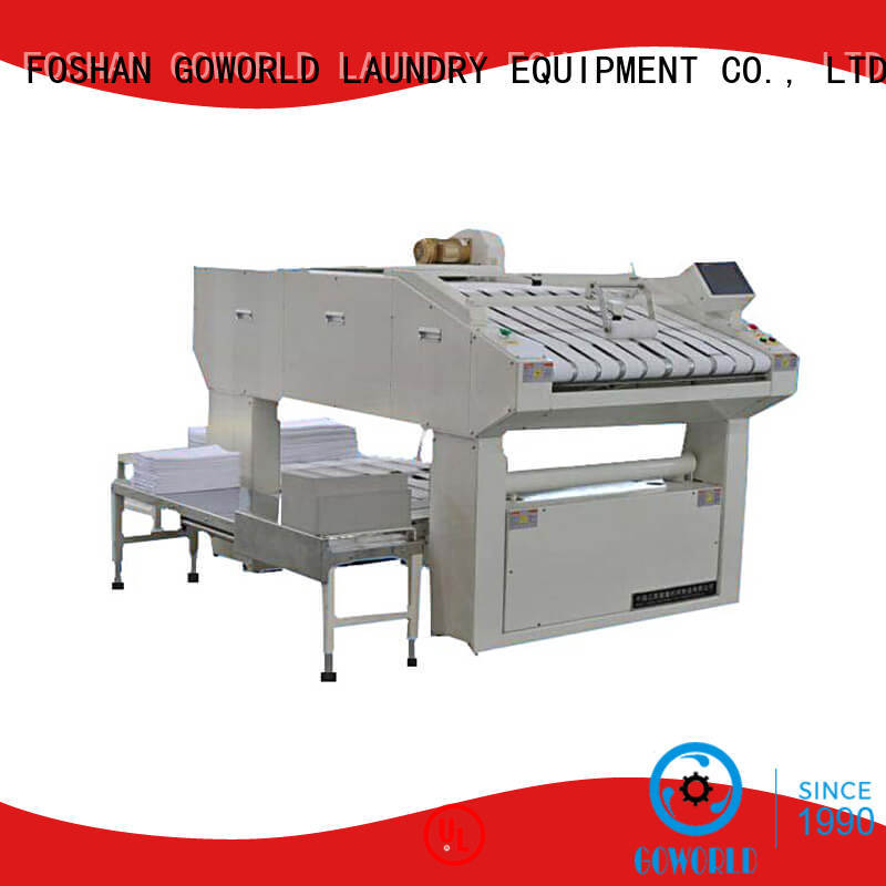 GOWORLD industries towel folder efficiency for laundry factory