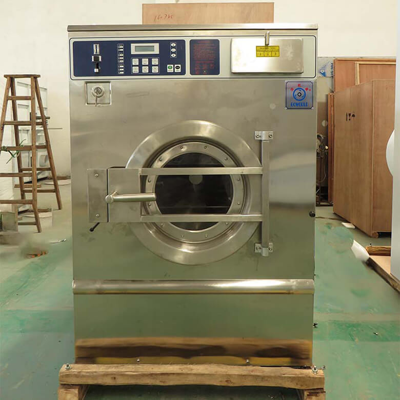 GOWORLD railway self service laundry equipment natural gas heating for commercial laundromat-1