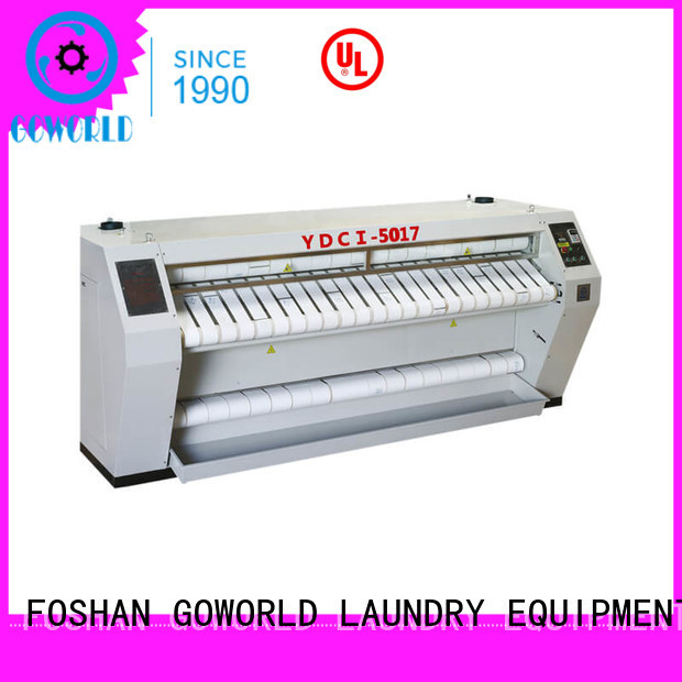 GOWORLD heat proof flat work ironer machine free installation for hospital