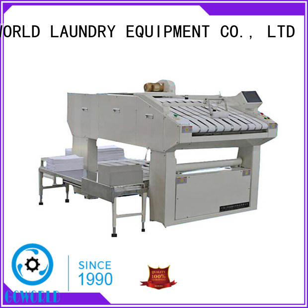 GOWORLD automatic folding machine intelligent control system for laundry factory