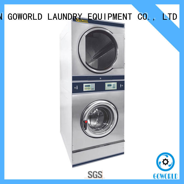Easy Operated stackable washer and dryer sets electric heating for school