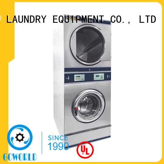GOWORLD 8kg15kg stackable washer and dryer sets natural gas heating for hotel