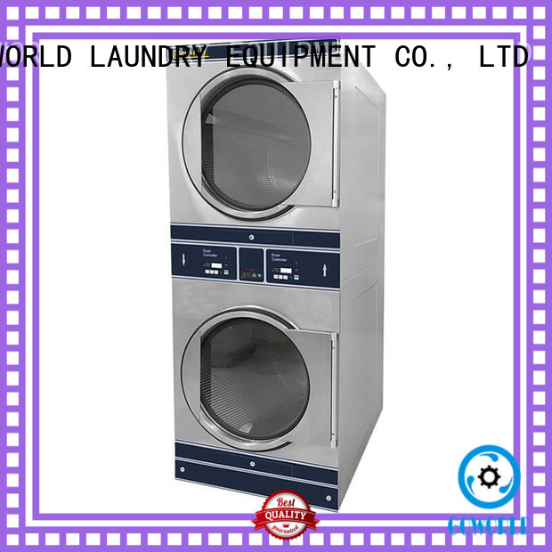 Low Noise stacking washer dryer brigade steam heating for hotel