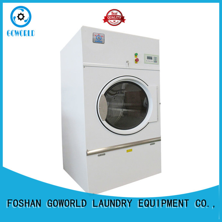 GOWORLD safe electric tumble dryer simple installation for laundry plants