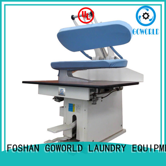 GOWORLD form laundry press machine Manual control for railway company