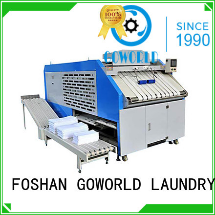 GOWORLD intelligent towel folder high speed for laundry factory