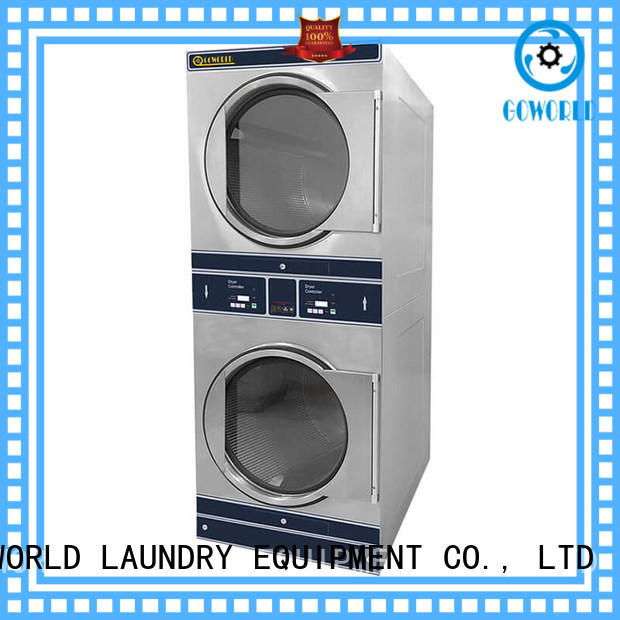 GOWORLD Energy Saving stackable washer dryer combo steam heating for hotel