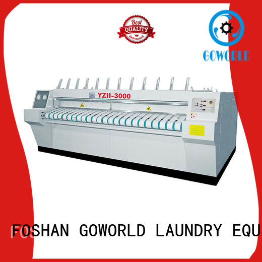 GOWORLD stainless steel flatwork ironer free installation for laundry shop