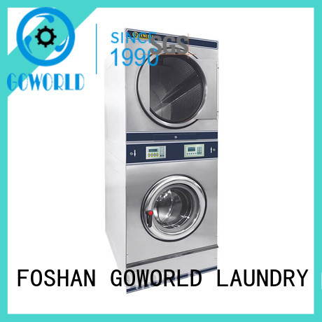 GOWORLD Low Noise commercial stacking laundry equipment combo for school