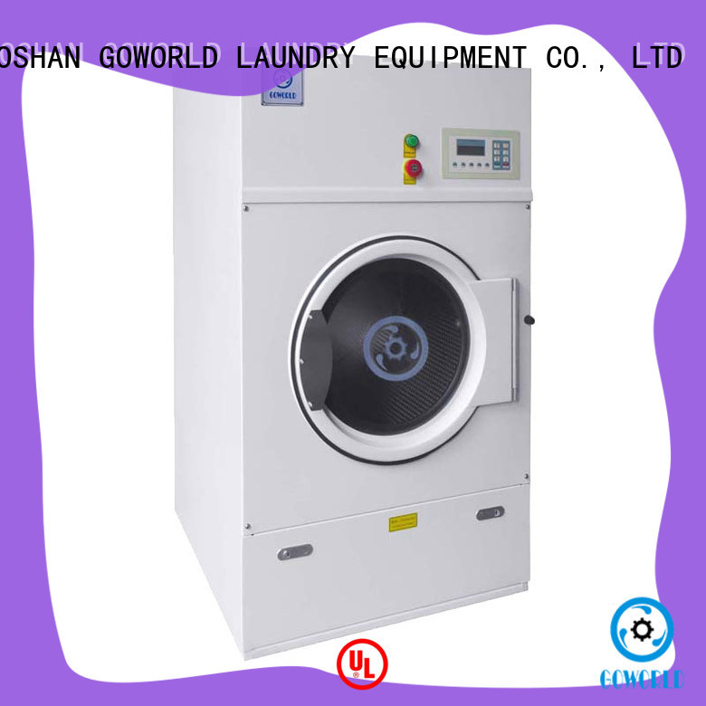 GOWORLD Stainless steel electric tumble dryer low noise for hospital