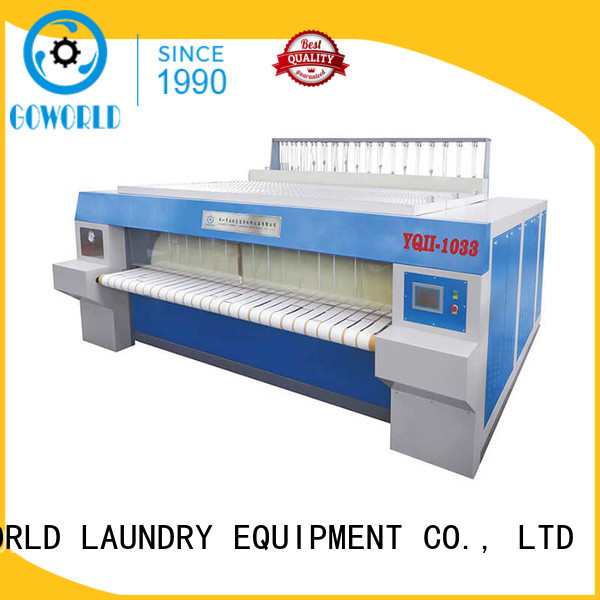 GOWORLD high quality flat work ironer machine easy use for laundry shop