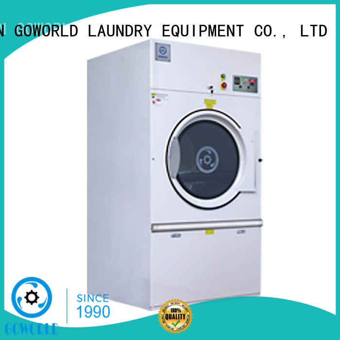 GOWORLD stainless steel semi automatic laundry machine Easy to control for Commercial laundromat