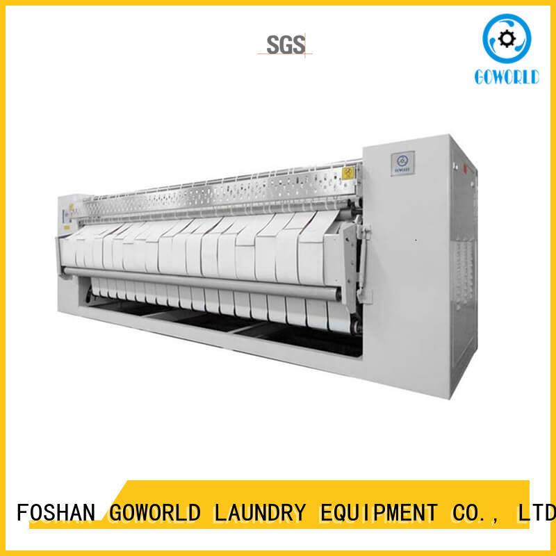 GOWORLD flat flat work ironer machine free installation for hospital