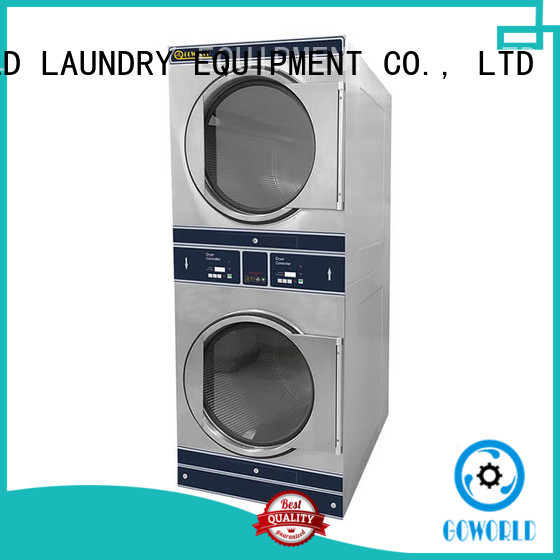 dryer stacking washer and dryer LPG gas heating for school GOWORLD