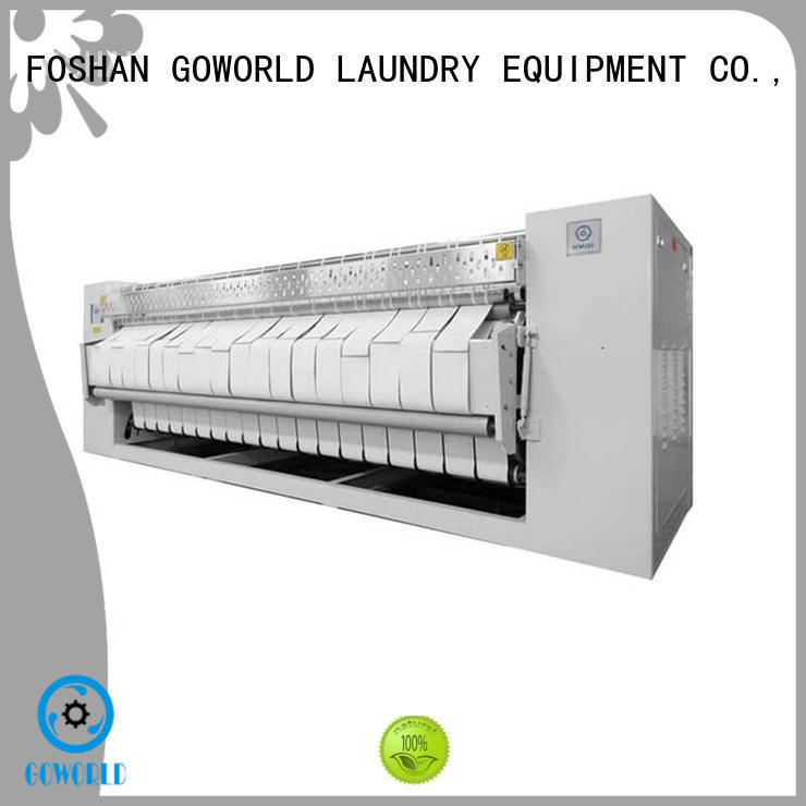 GOWORLD textile flat roll ironer free installation for laundry shop