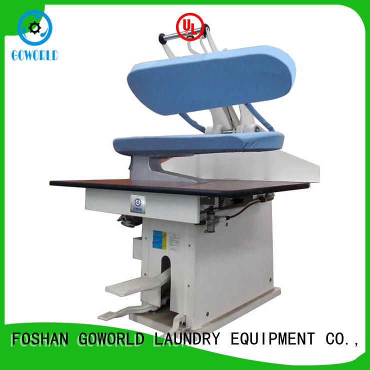 GOWORLD multifunction industrial iron press machine pneumatic control for laundry