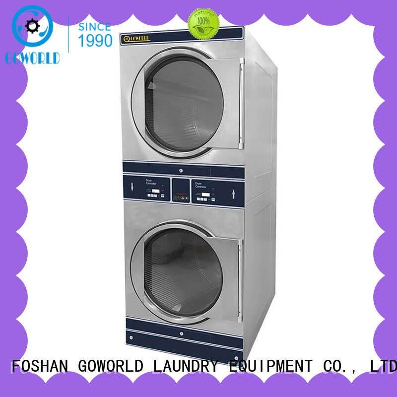 GOWORLD Energy Saving stackable washer dryer combo LPG gas heating for school