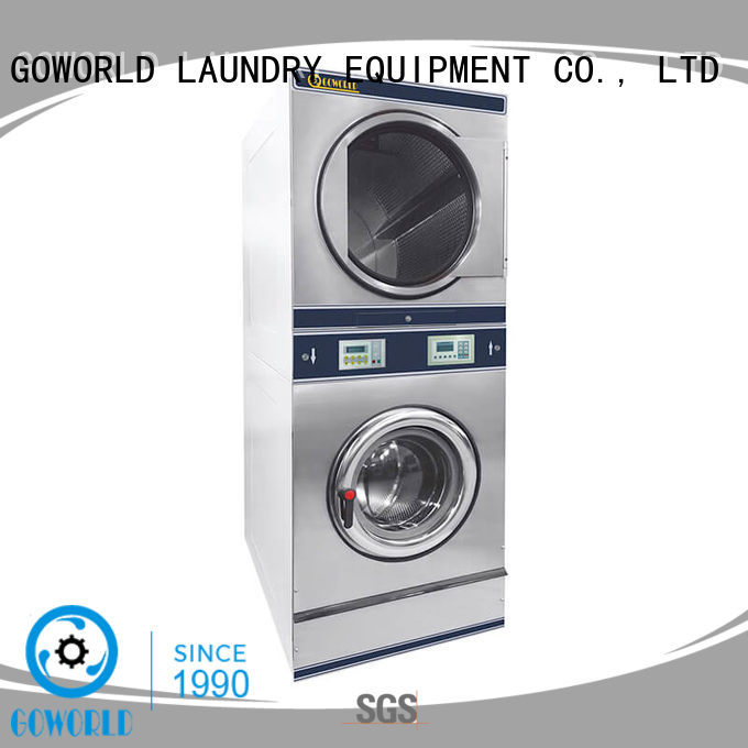 GOWORLD Manual stacking washer dryer LPG gas heating for laundry shop