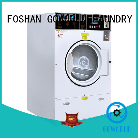 GOWORLD safe use self service laundry equipment LPG gas heating for commercial laundromat