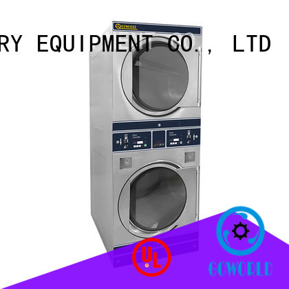 GOWORLD automatic self laundry machine natural gas heating for hotel