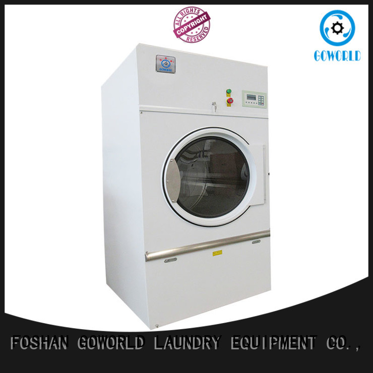 GOWORLD Stainless steel industrial tumble dryer factory price for hotel