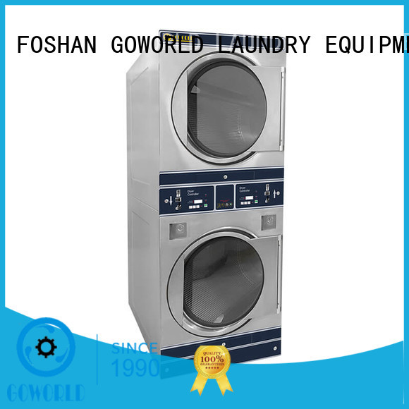 GOWORLD stainless steel self laundry machine for sale for hotel