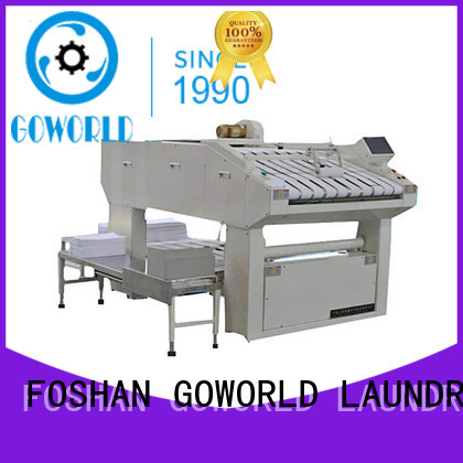 GOWORLD textile folding machine high speed for hotel