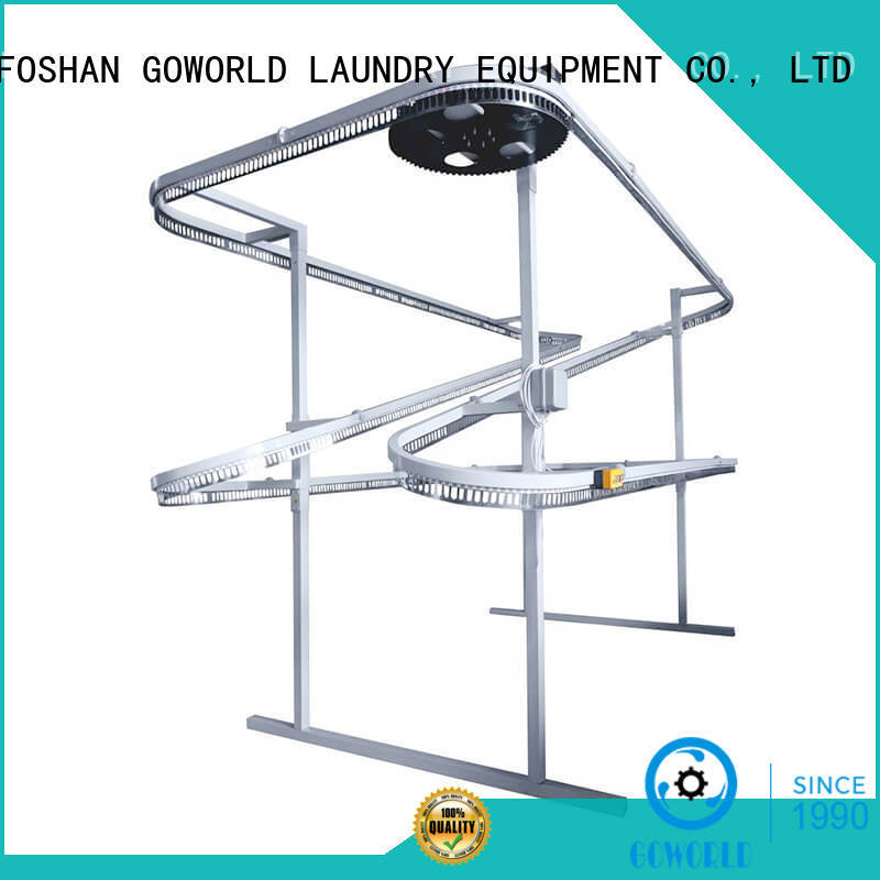 GOWORLD spotting laundry conveyor for sale for shop