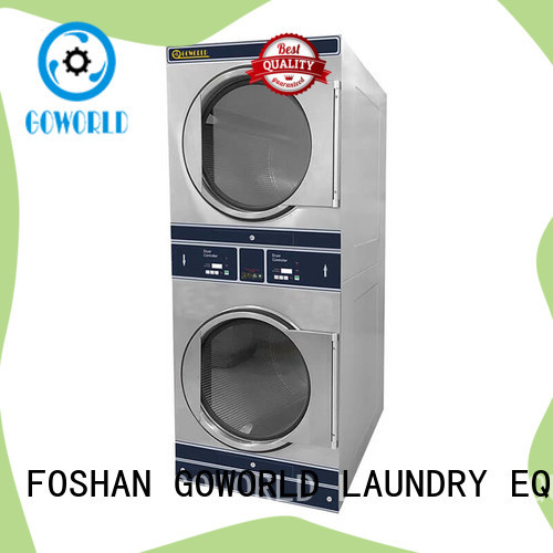 GOWORLD Manual stacking washer dryer LPG gas heating for hotel