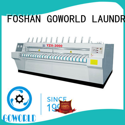 stainless steel flat roll ironer heating free installation for inns