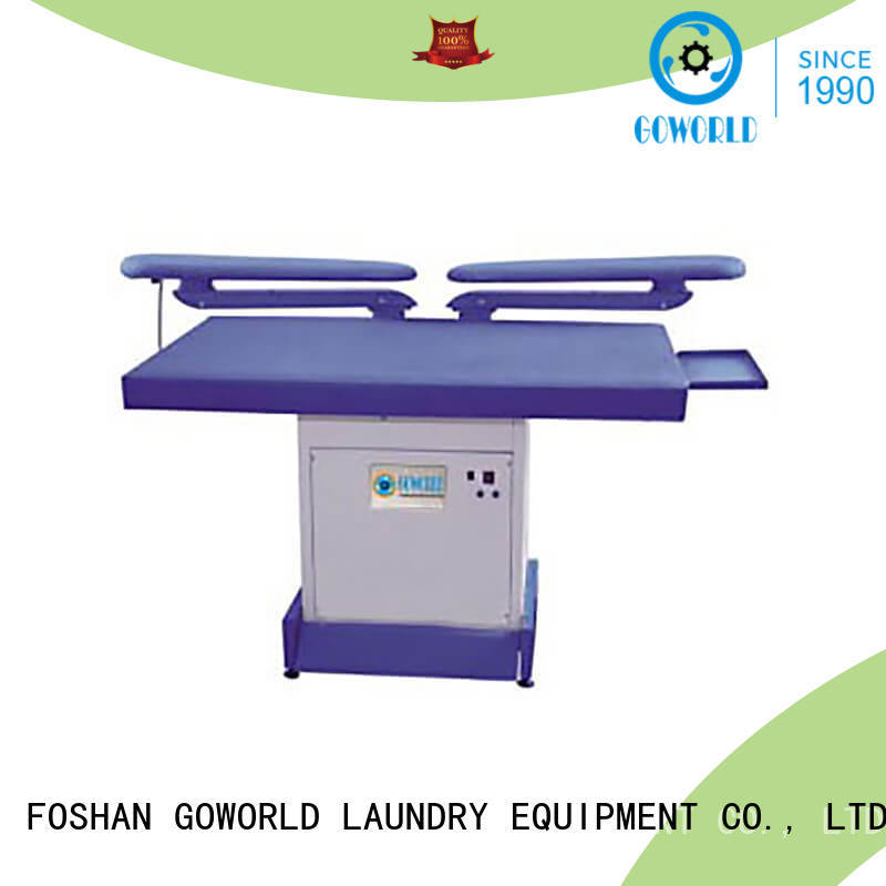 GOWORLD skirt industrial iron press machine pneumatic control for garments factories