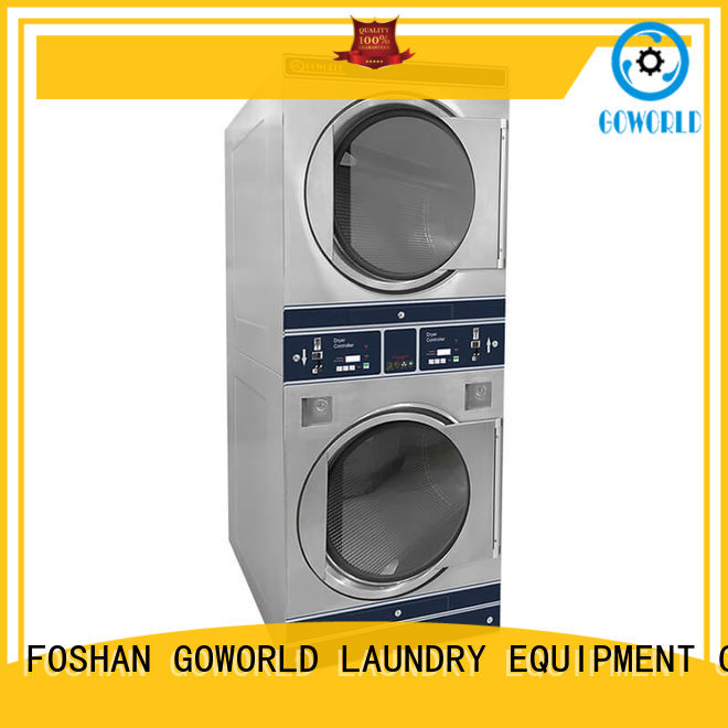 GOWORLD laundry self-service laundry machine natural gas heating for commercial laundromat