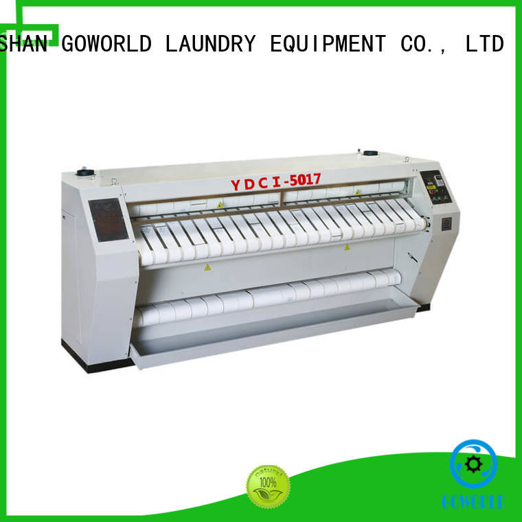 GOWORLD heat proof flat work ironer machine free installation for hotel